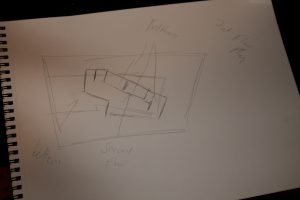 quick sketch for second level plan